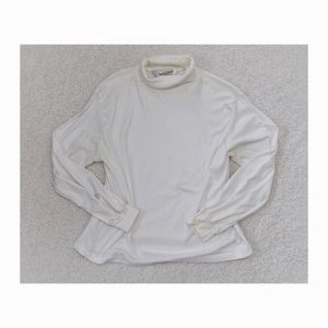 Diane Von Furstenburg Ivory Cowl Neck Sweater 42